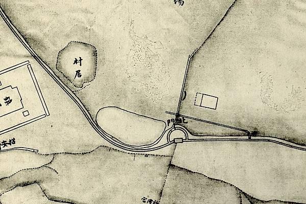 1875年間〈臺灣府城街道圖〉中的「大北門」位置.jpg