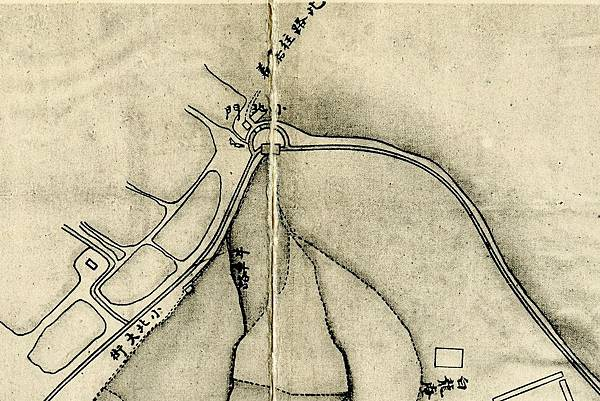 1875年間〈臺灣府城街道圖〉中的「小北門」位置.jpg