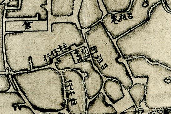 1875年間〈臺灣府城街道圖〉中的引心書院.jpg
