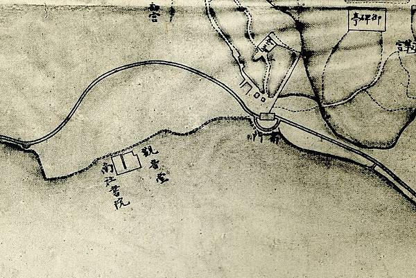 1875年間〈臺灣府城街道圖〉中的南社書院.jpg
