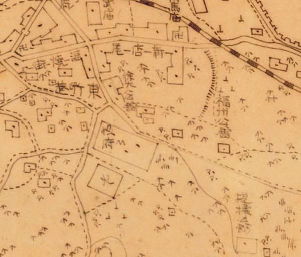 1896年﹤臺南府迅速測圖﹥中的福州公廳位置圖.jpg