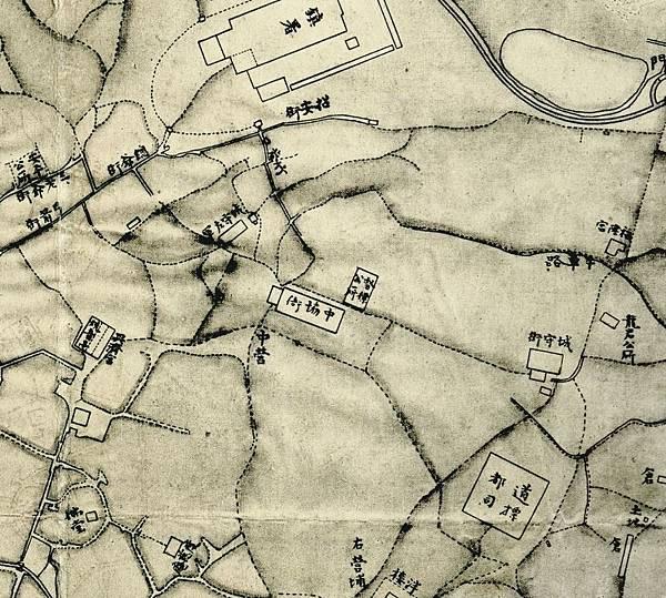 1875年間﹤臺灣府城街道圖﹥中的各籍營兵公廳、會館.jpg