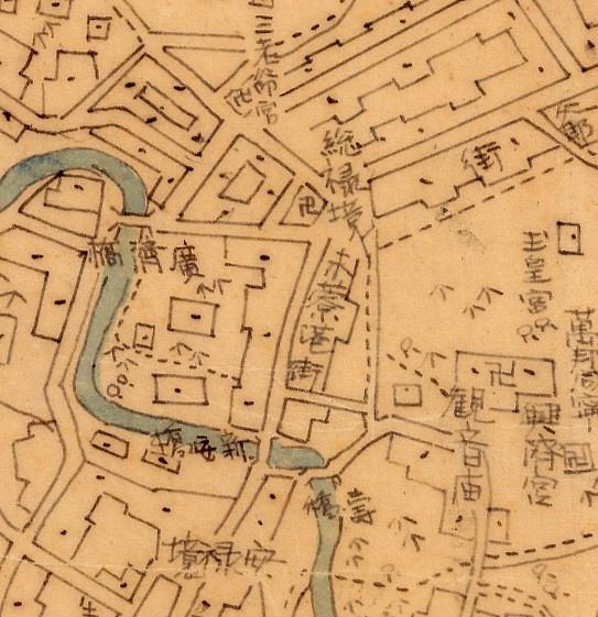 1896年〈臺南府迅速測圖〉中「禾寮港街」.jpg