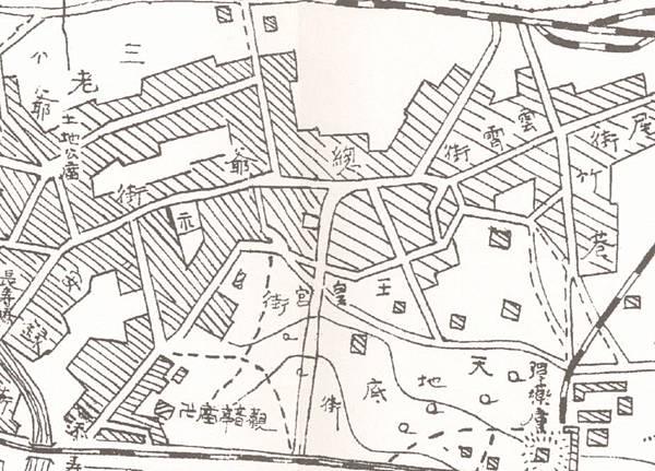 1907年﹤臺南市街全圖﹥中「天池底街」.jpg