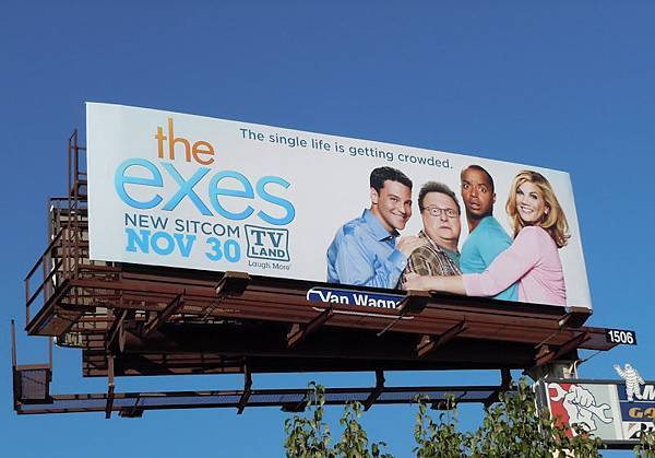 Exes TV billboard