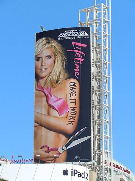 HeidiKlum projectRunway9 billboard