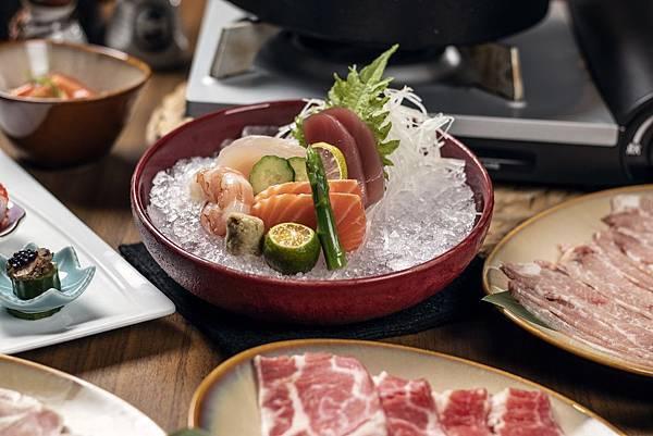 煉‧瓦_壽喜燒套餐 _生魚片.jpg