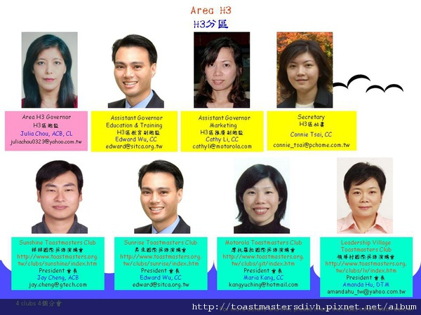 2010-2011 Area H3 Officers