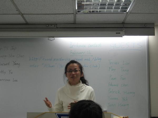 Geust -May Tang (Evleline's sister)