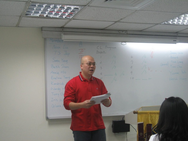 Work Shop Trainer- Sean Yang