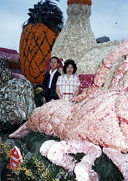 國一時與母親去參觀花車展_調整大小