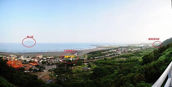 外澳沙灘全景圖