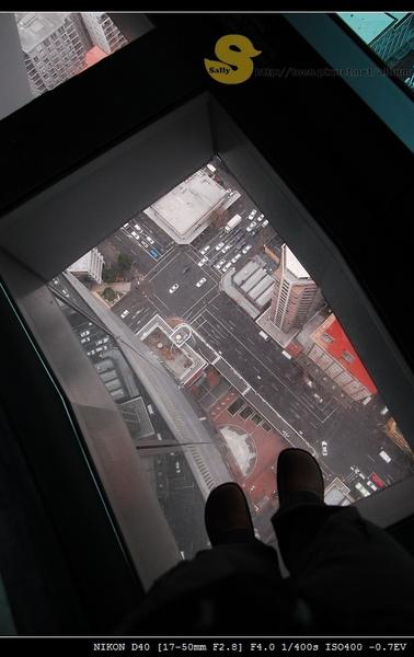 到了觀景台地板也有透明的