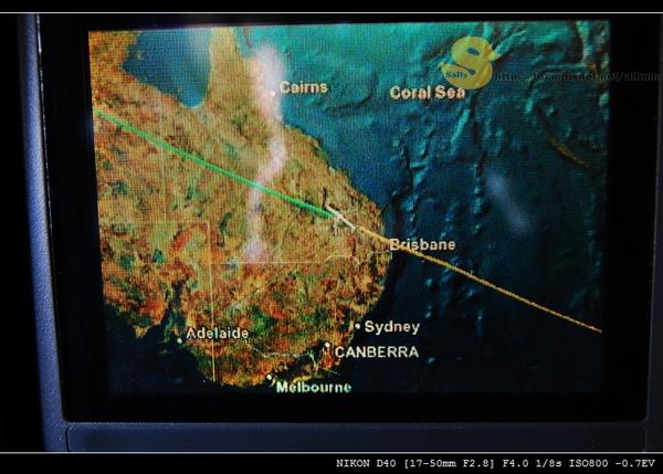 正經過澳洲領空