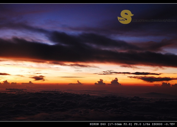 飛機上的夕陽