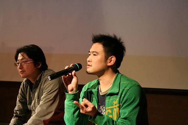 剪接師蕭汝冠(左),剪接師林雍益(右)