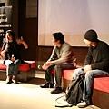主持人曾偉禎(左),剪接師蕭汝冠(中),導演朱家麟(右)