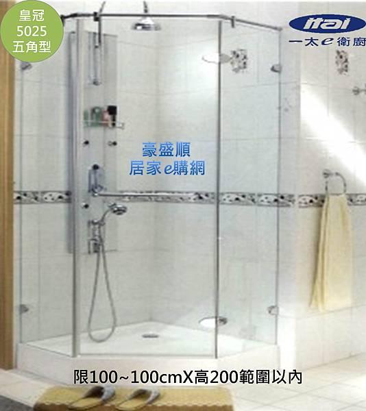 皇冠5025伍角型100X100(1)