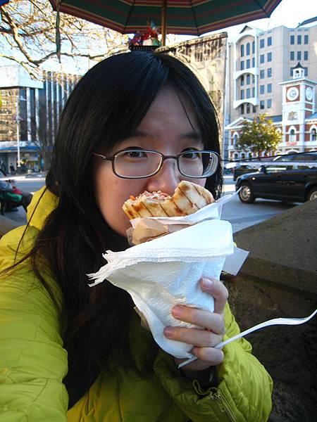基督城。超好吃的希臘捲餅