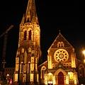 基督城。夜晚的大教堂