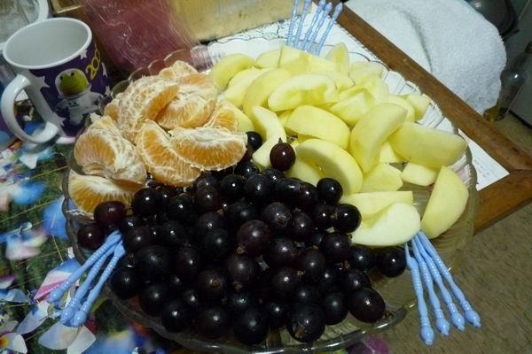 好大一盤水果