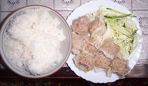 3.白飯+燒賣