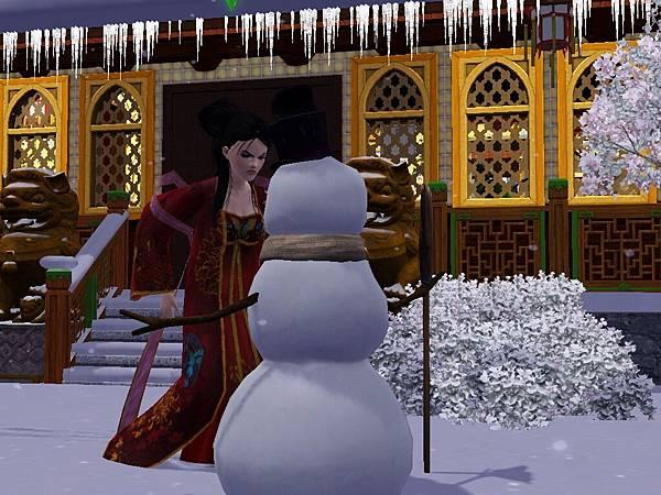 尼寇對雪人生氣.jpg