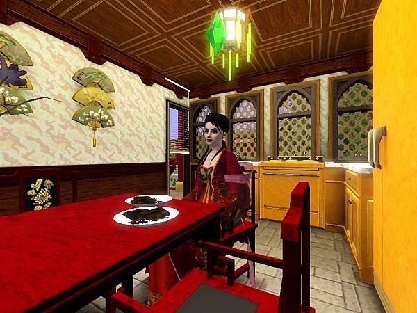 廚房後面有後門出去,桌上的髒碗筷別在意捏.jpg