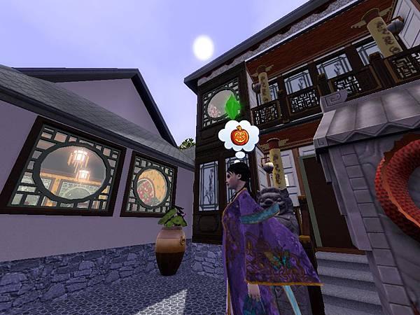 尼寇在中庭,頭上一輪明月.jpg