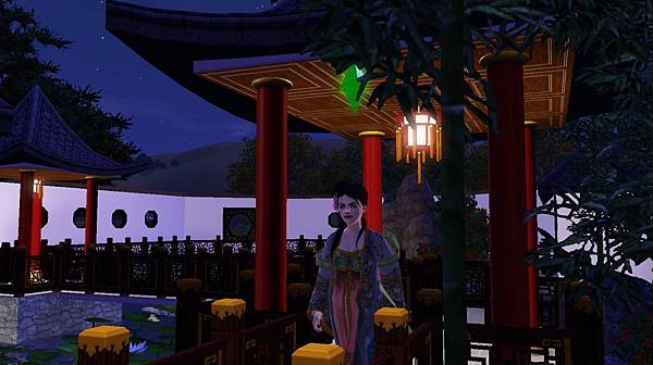 穿過園子裡的遊廊可以去公子小姐房,也可以到見碧軒.jpg