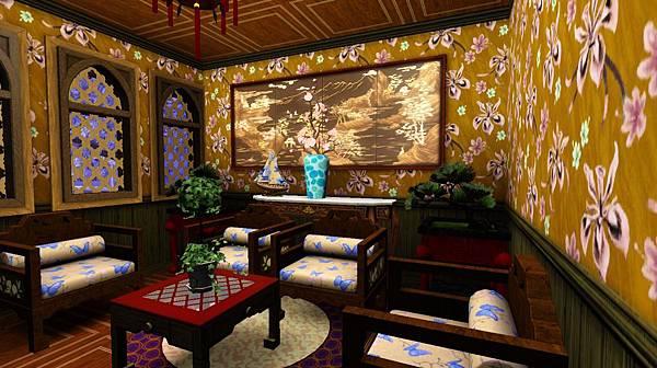 客廳,後面的藍繪花瓶是西域進口的.jpg