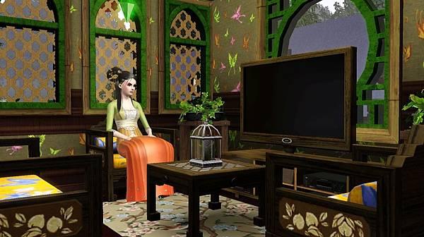 繡樓裡的小客廳有電視.jpg
