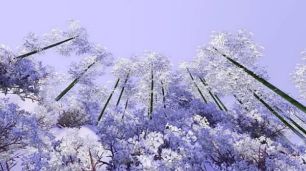 雪中竹斑斑,高聳入天.jpg