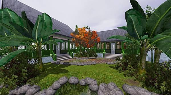 主屋與退步之間的梨花小院.jpg