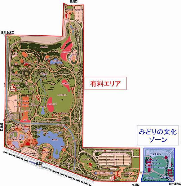昭和公園內部地圖