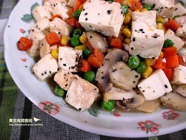 奶油蘑菇豆腐