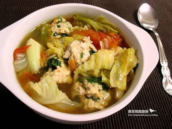 番茄羅勒雞肉丸子湯