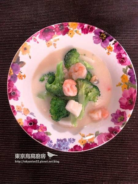 奶油海鮮青花菜