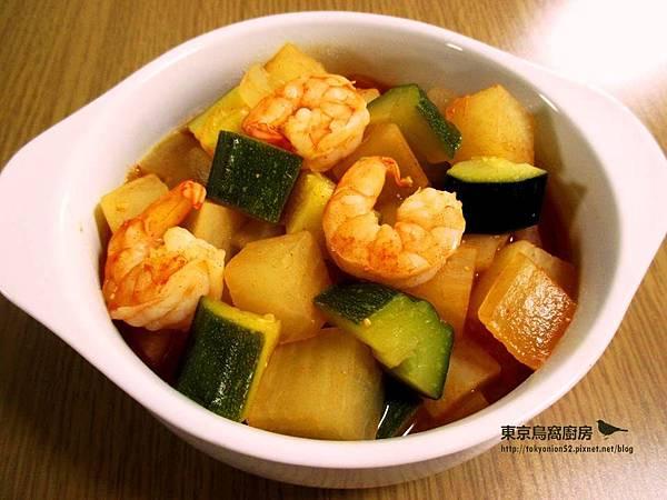 韓式蝦仁櫛瓜辣椒醬鍋