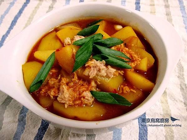 韓式鮪魚馬鈴薯辣椒醬鍋