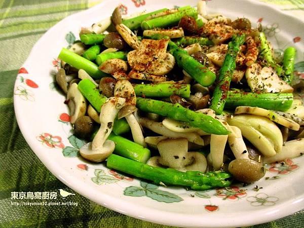 雙菇炒蘆筍