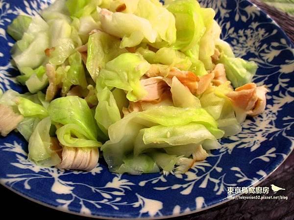 燻雞炒高麗菜