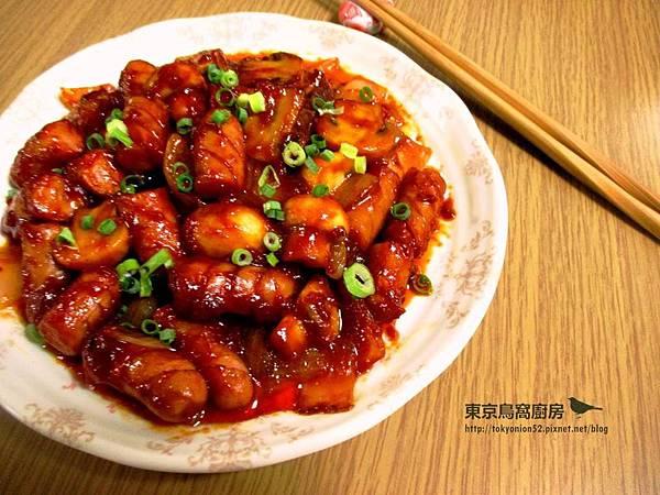 韓式辣醬炒香腸蘑菇.jpg