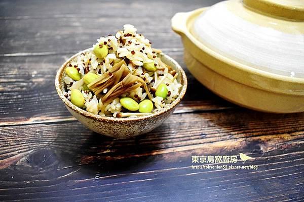 毛豆山茶茸紅藜麥飯.jpg