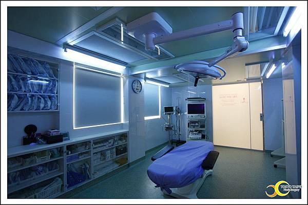 手術房使用完畢會照射UV燈殺菌消毒