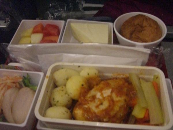 機上餐點超好吃ㄉ說