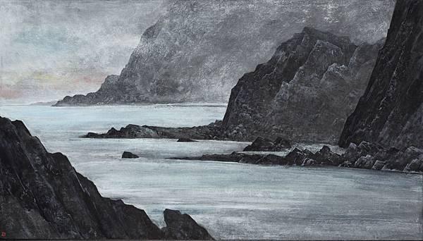 梁震明 海岩 63x39cm 2001
