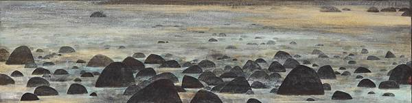 梁震明 黑石 138x34cm 2010