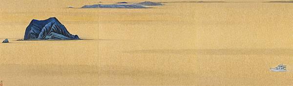 梁震明 夢幻之島 24x81cm 2011
