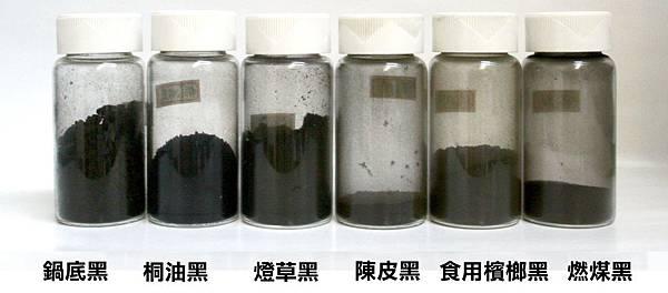六種黑色顏料